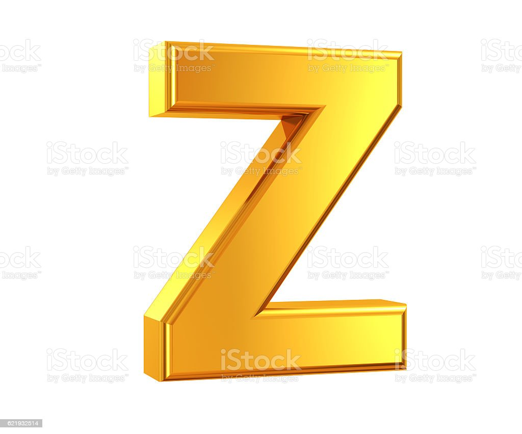 Gold Letter Z stock photo