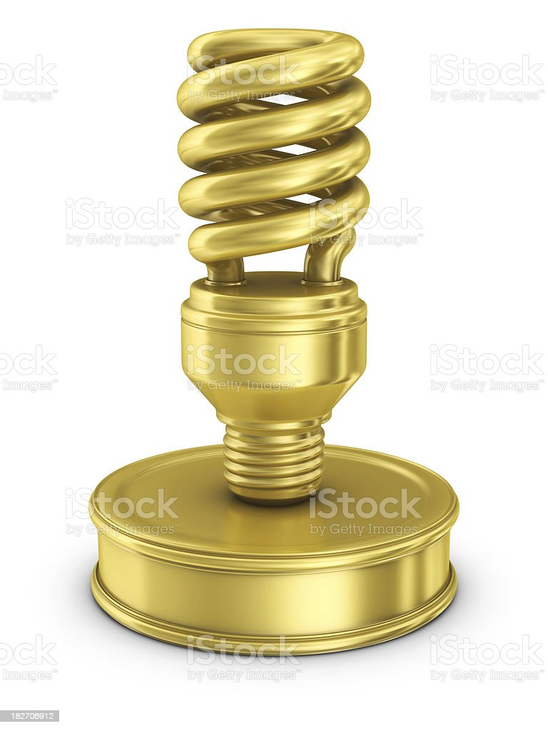 gold light bulb award royalty-free stock photo