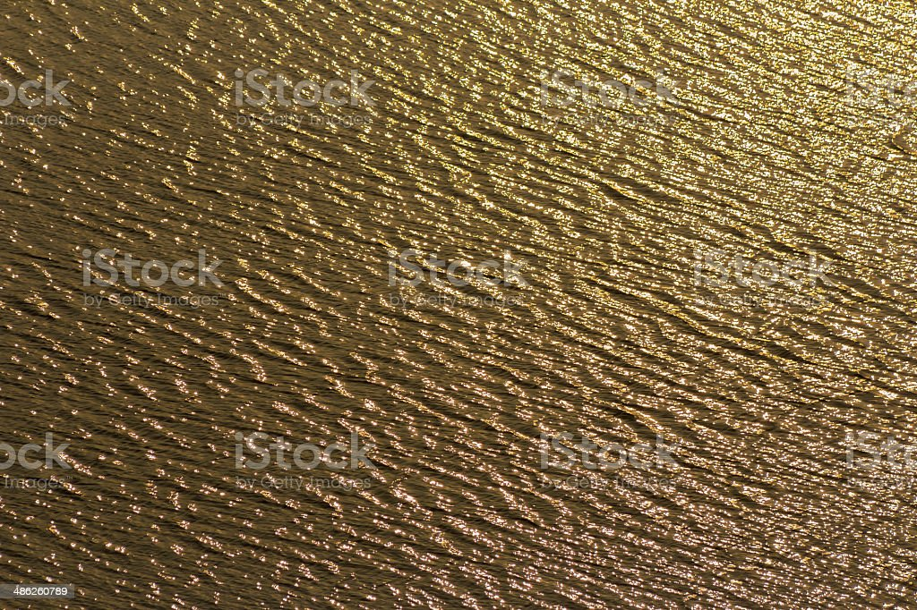 gold light reflex of sunrise on water royalty-free stock photo