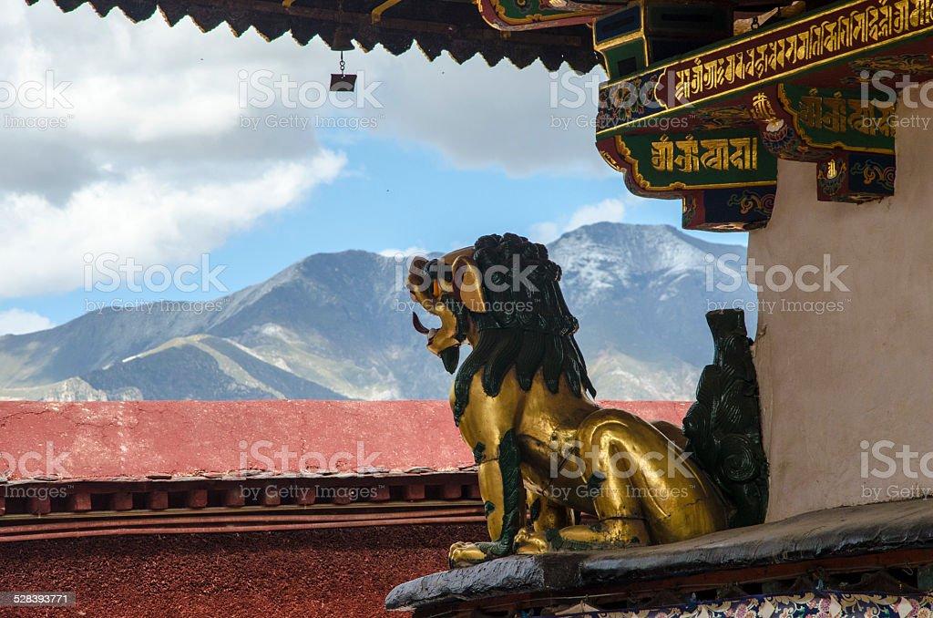 Gold Lion stock photo