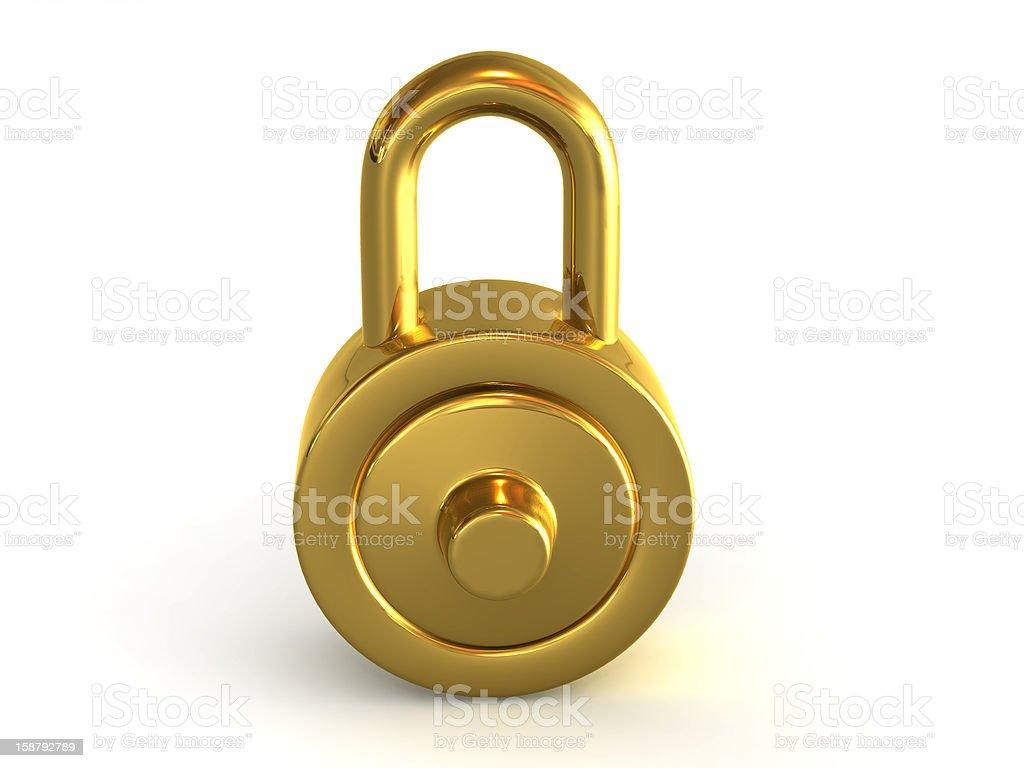 Gold Lock. royalty-free stock photo