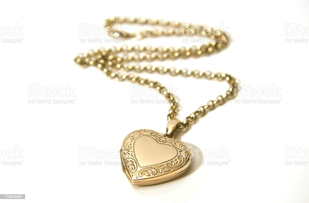 Gold Locket royalty-free stock photo