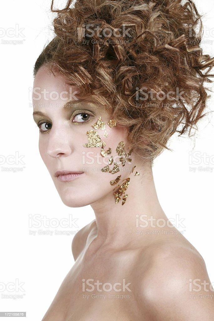 Gold Makeup stock photo