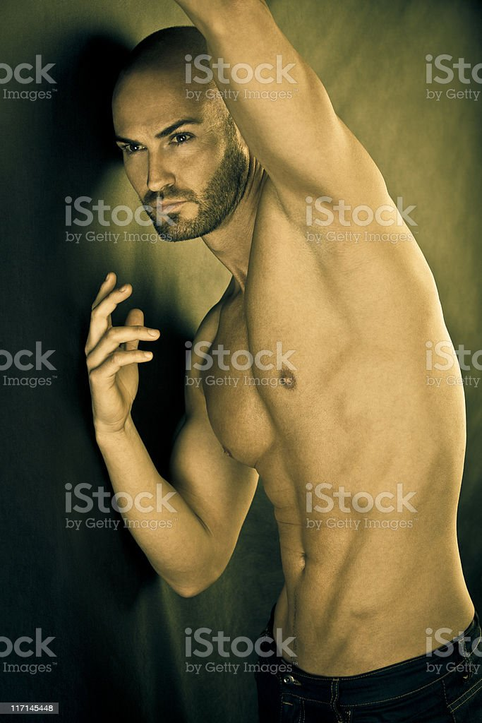 Gold masculinity royalty-free stock photo