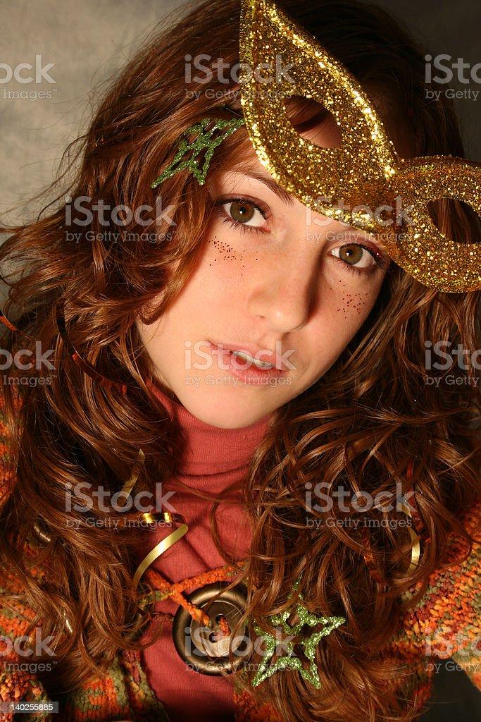 Gold mask royalty-free stock photo
