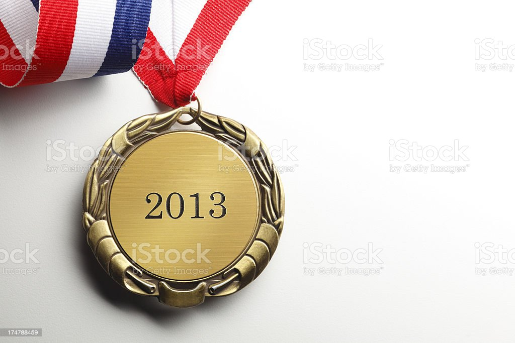 Gold Medal 2013 royalty-free stock photo