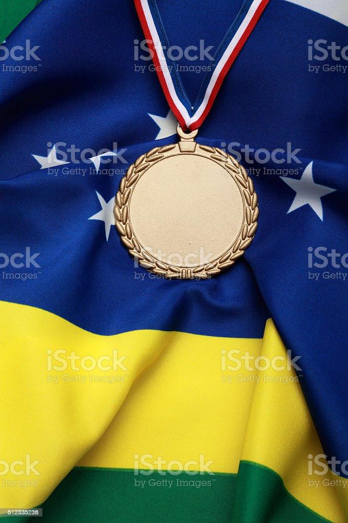 Gold Medal for Brazil stock photo