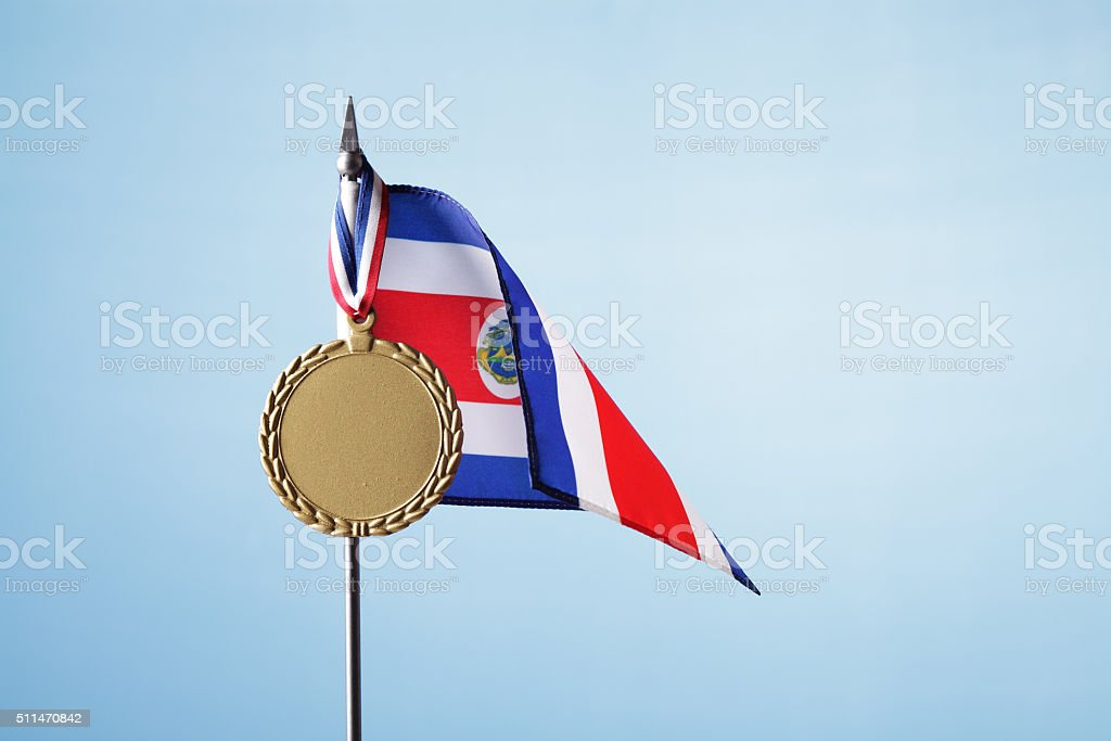 Gold Medal for Costa Rica stock photo