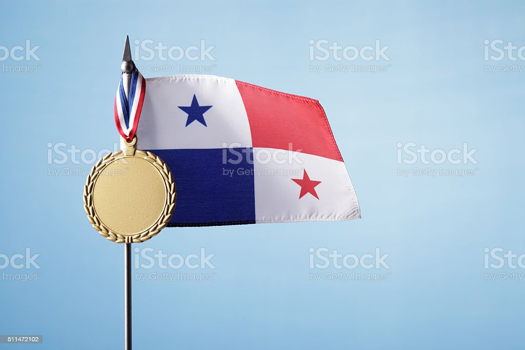 Gold Medal for Panama stock photo