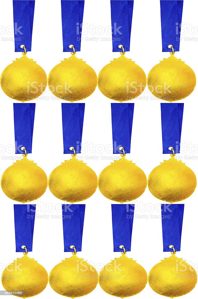 gold medal pattern royalty-free stock photo
