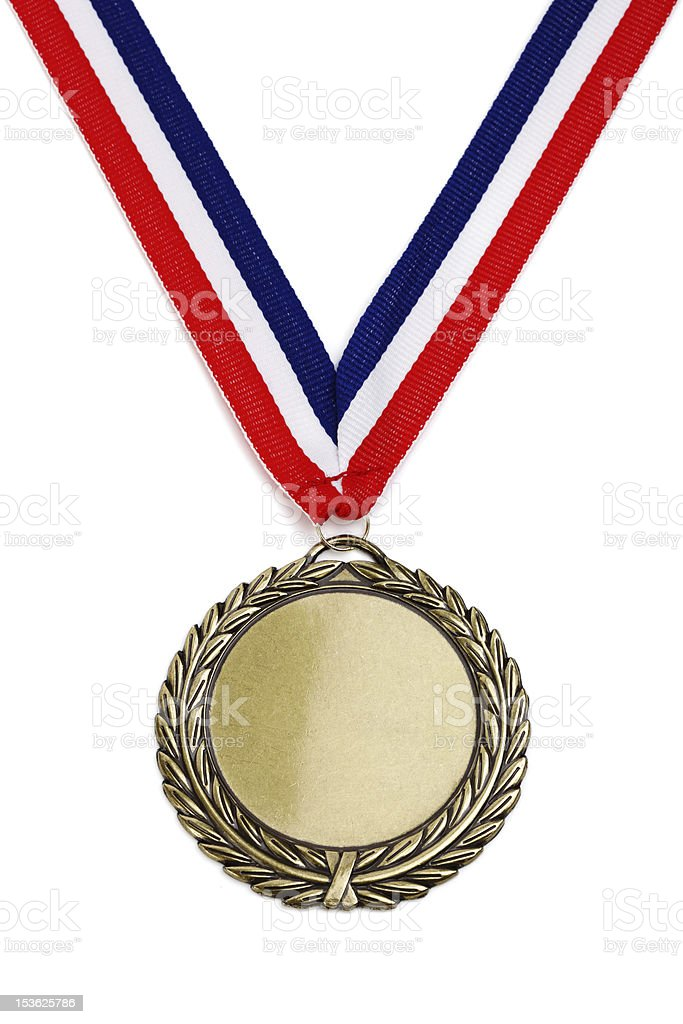 Olympic gold medal stock photo