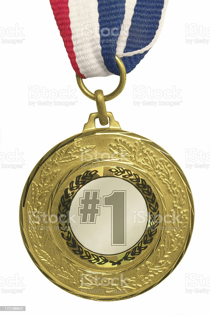 #1 Gold Medal royalty-free stock photo