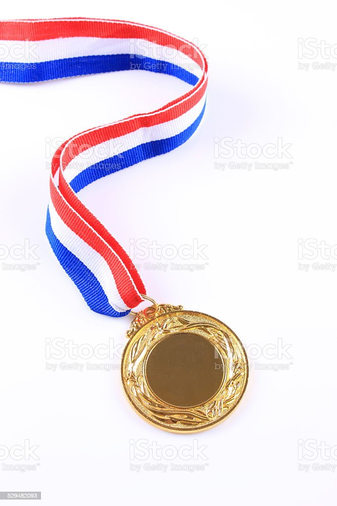 Gold medal stock photo