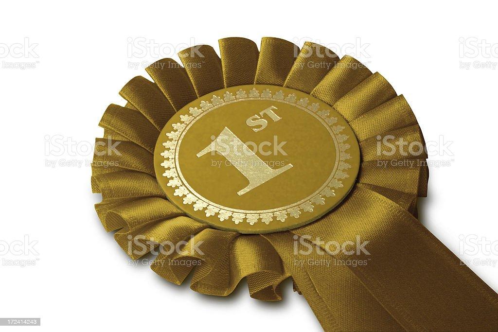 Gold Medal Rosette stock photo