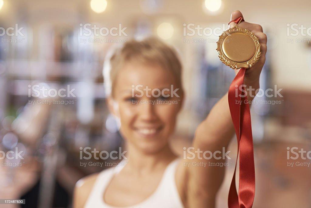 Gold medal winner royalty-free stock photo