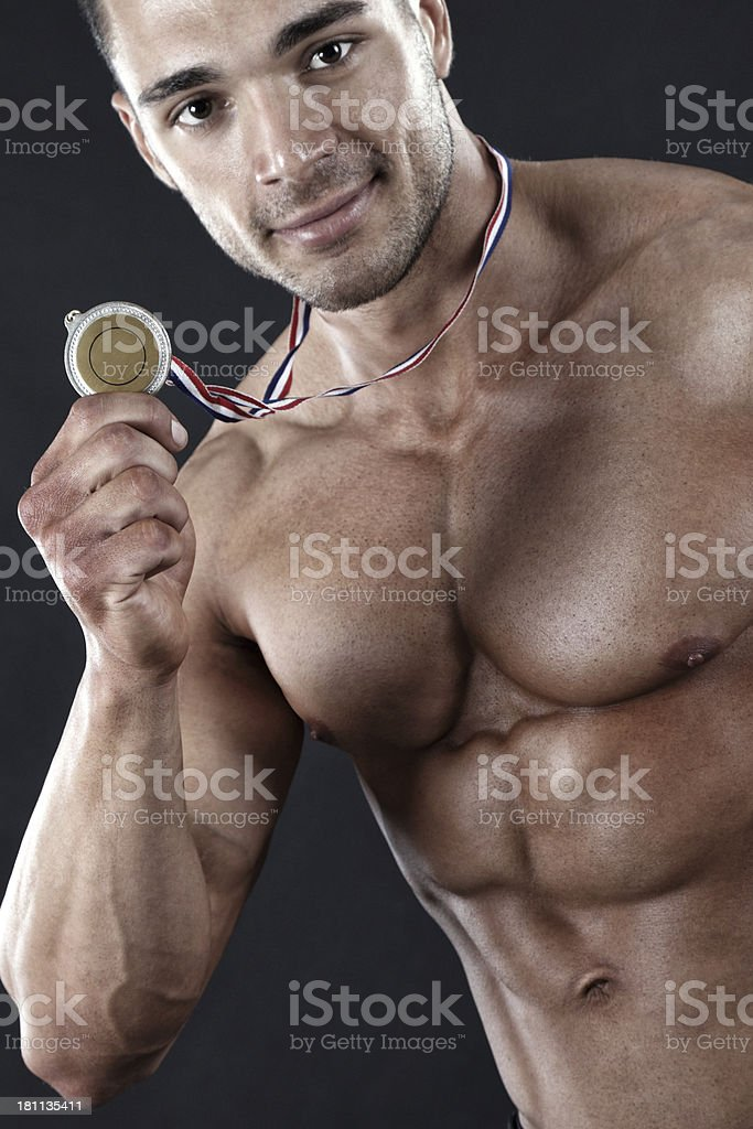 Gold medalist royalty-free stock photo