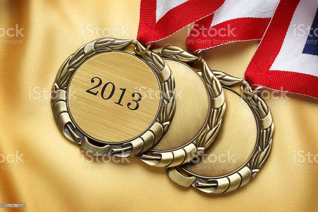 Gold Medals royalty-free stock photo