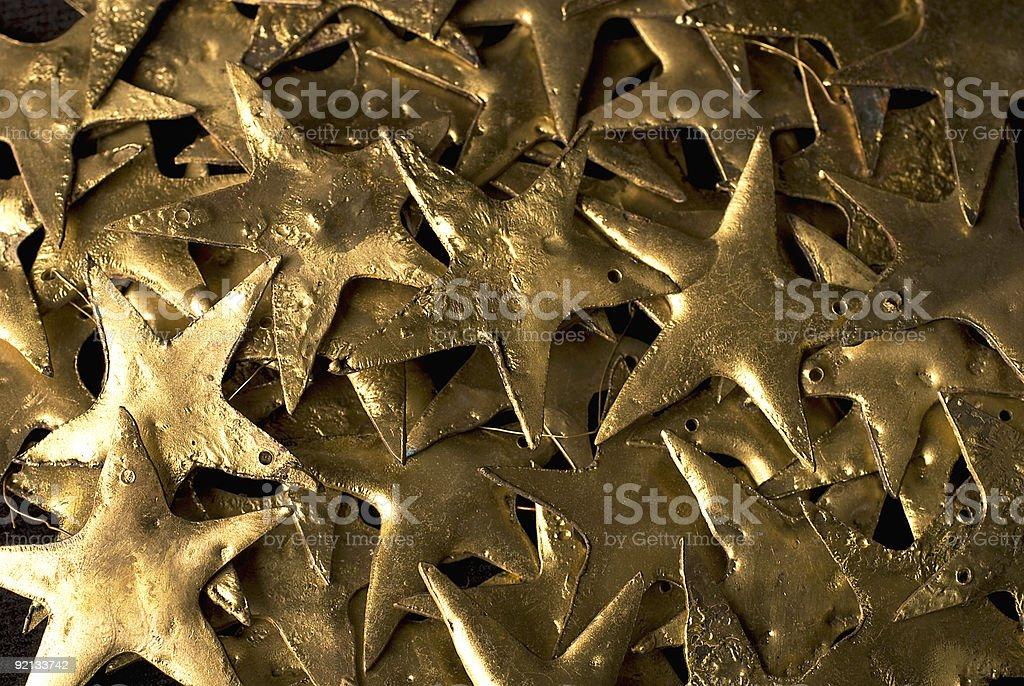 Gold Metal Stars royalty-free stock photo