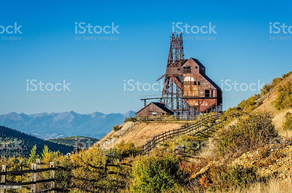 Gold Mine near Victor, Colorado stock photo
