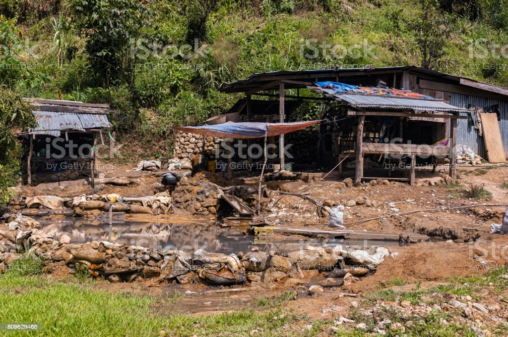 Gold Mine Tailings stock photo