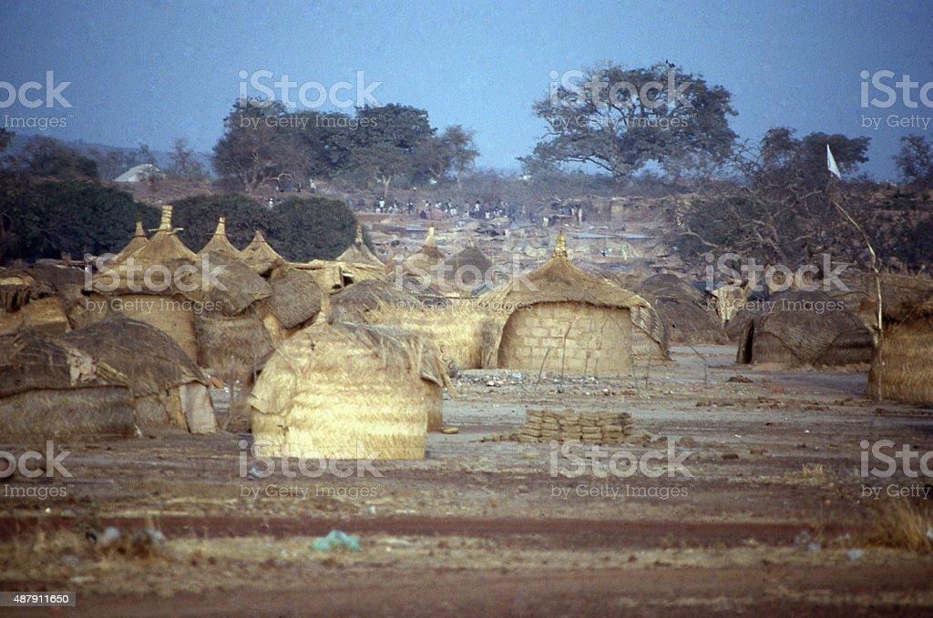 gold mining camp boom town Ouagadougou Burkina Faso West Africa stock photo