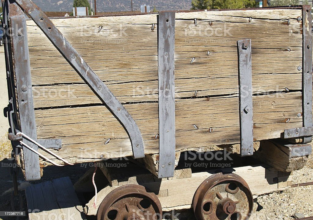 Gold Mining Cart stock photo
