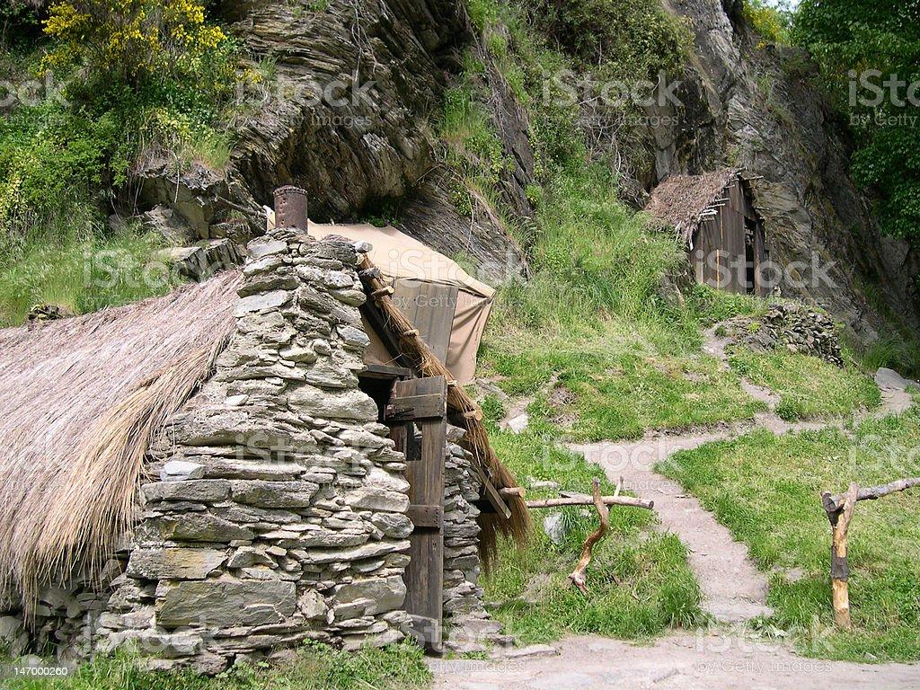 Gold Mining Village, Arrowtown, New Zealand. royalty-free stock photo