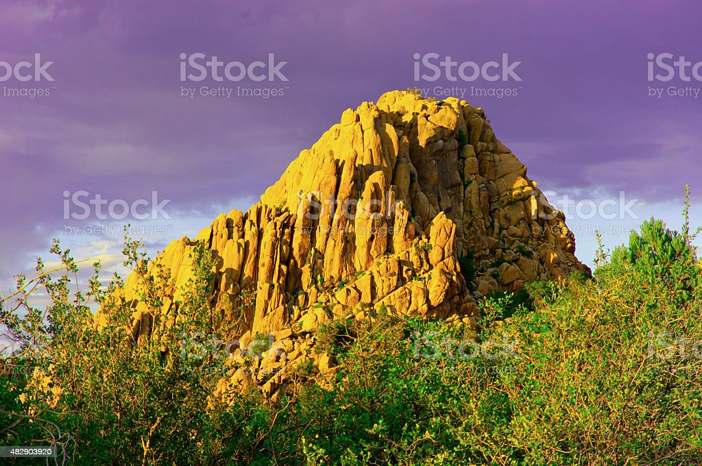 Gold Mountain stock photo