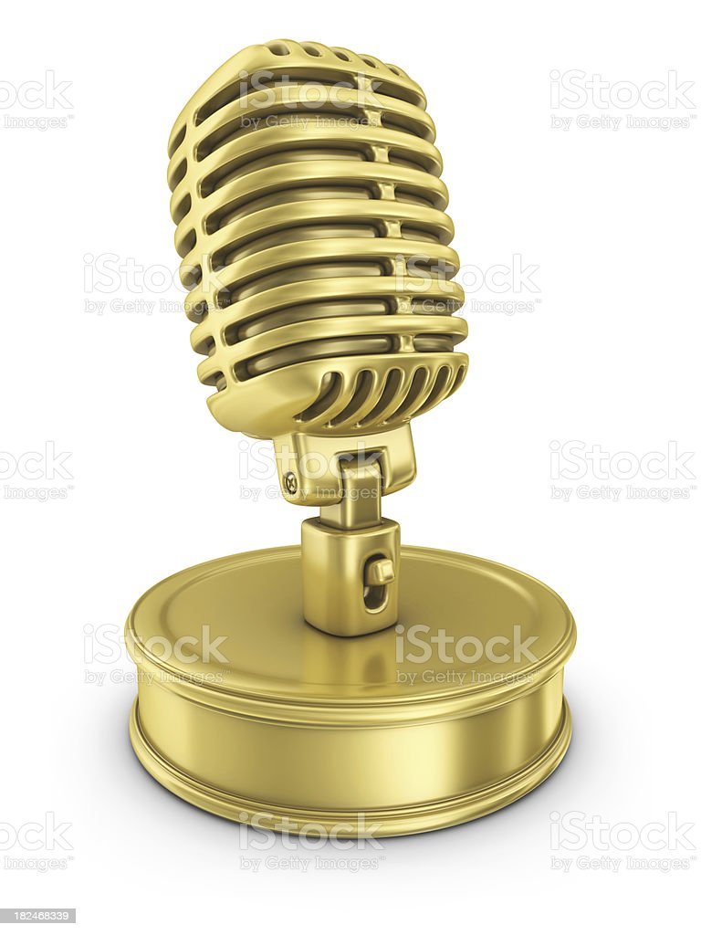 gold music award stock photo
