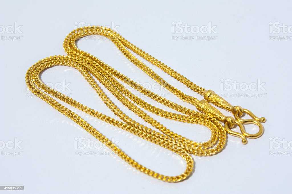 Gold Necklace stock photo