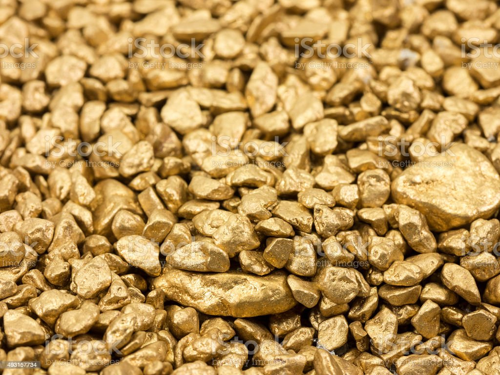 gold nuggets stock photo