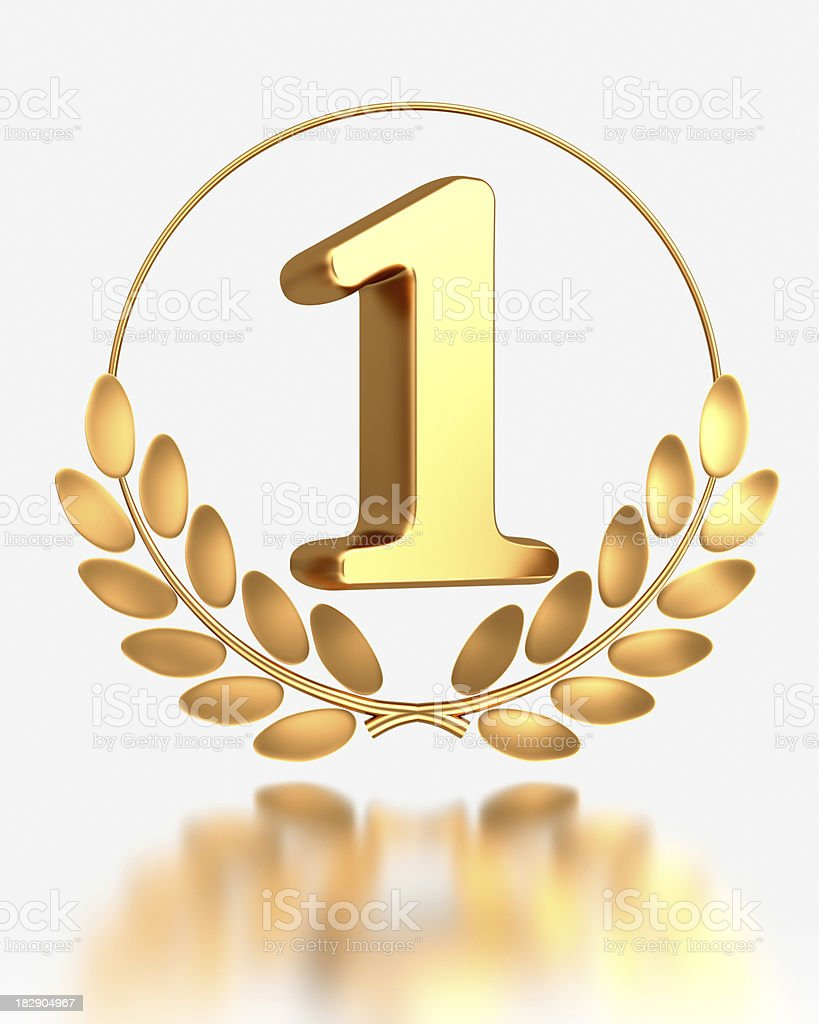 gold number 1 royalty-free stock photo