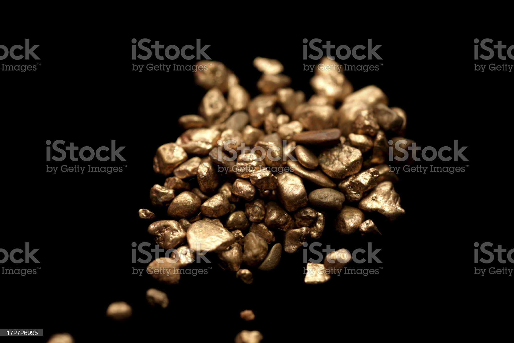 Gold on black royalty-free stock photo