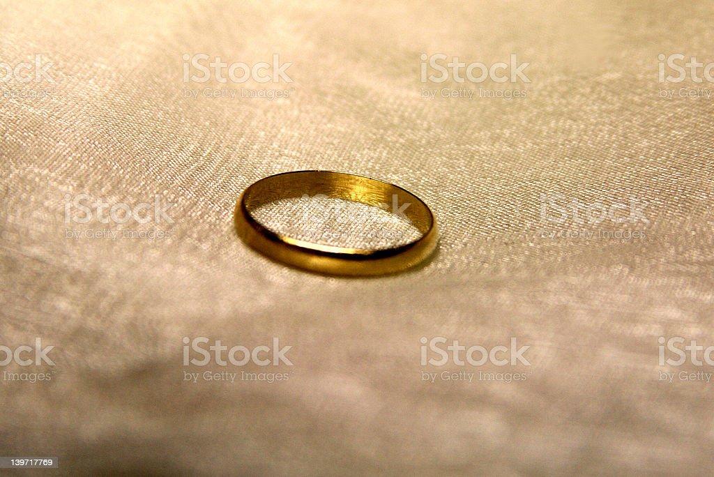 gold on bridal white royalty-free stock photo