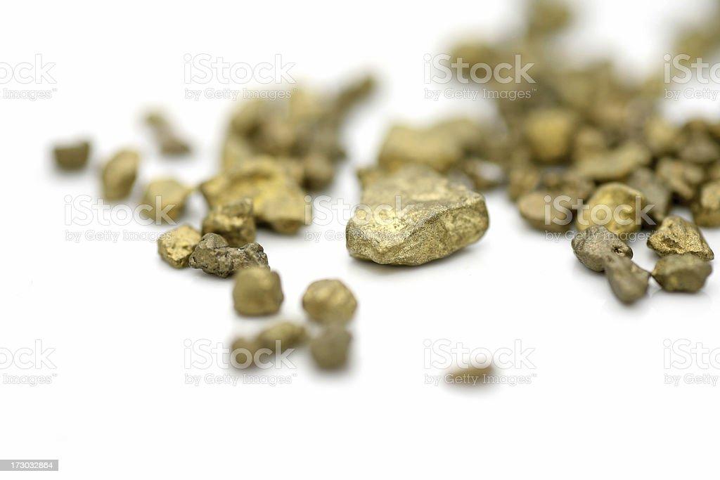 Gold on white royalty-free stock photo