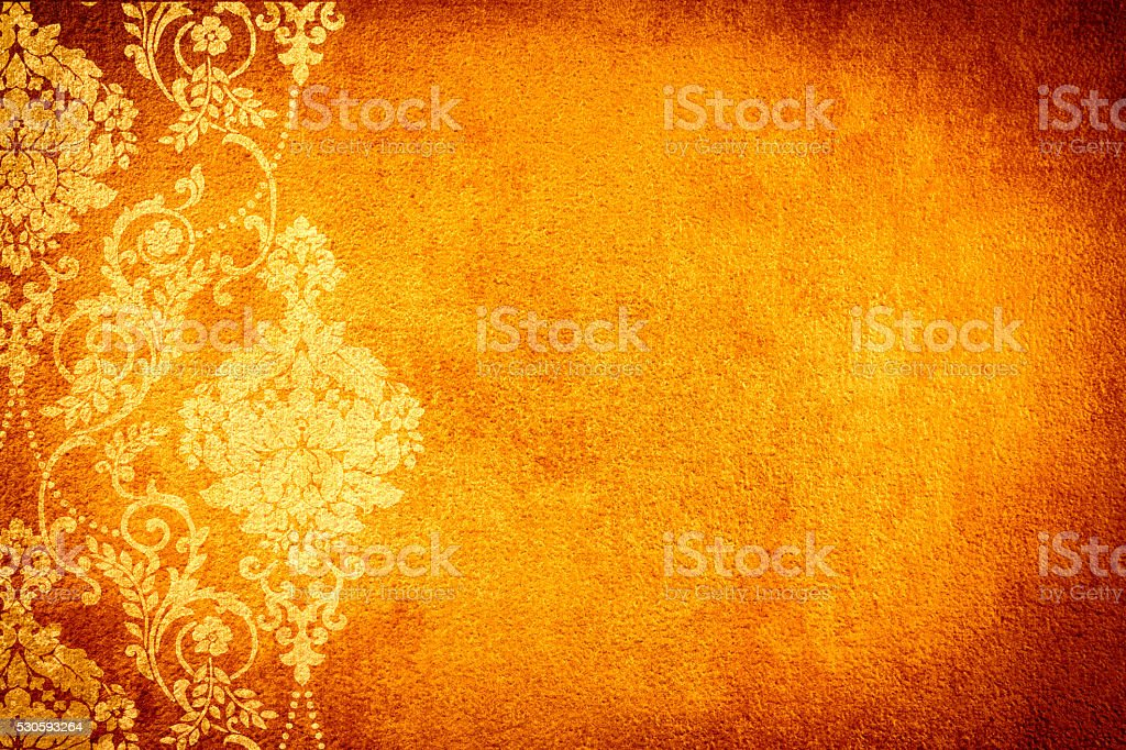 Gold Orange Abtract Background stock photo