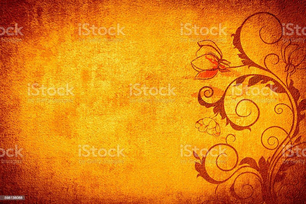 Gold Orange Abtract Background stock photo