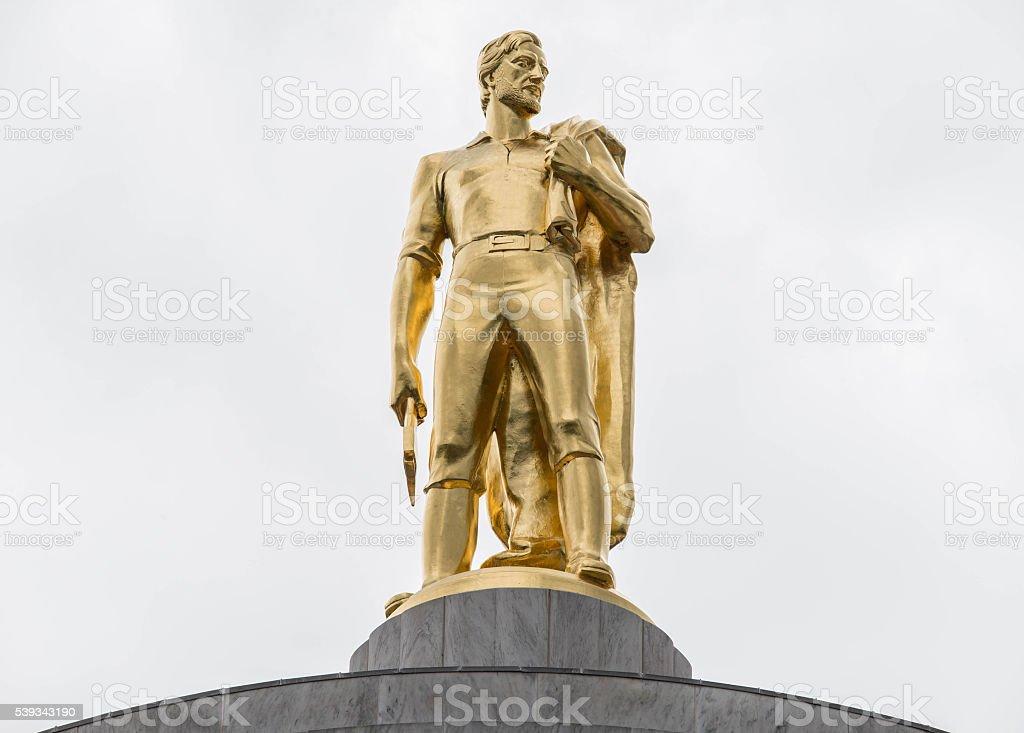 Gold Oregon Pioneer stock photo