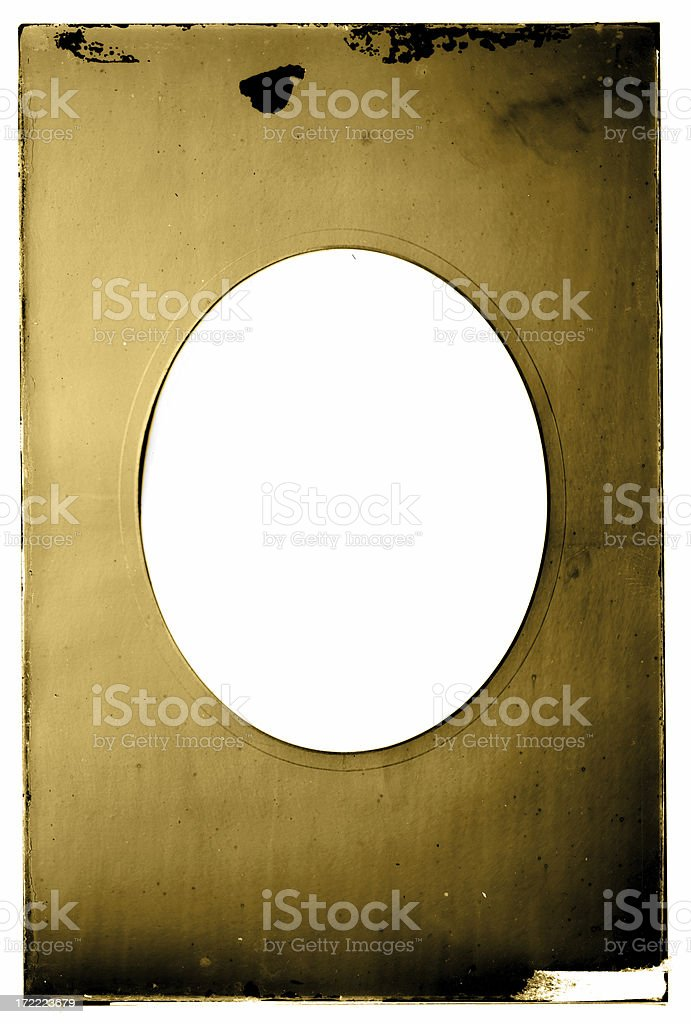 gold oval frame royalty-free stock photo