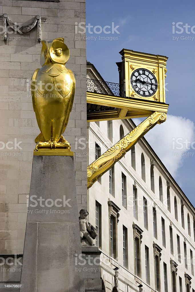 Gold Owl Leeds Civic Hall royalty-free stock photo
