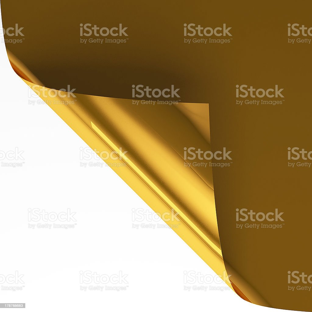 Gold page curl royalty-free stock photo