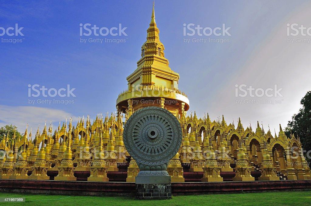 500 gold pagoda royalty-free stock photo