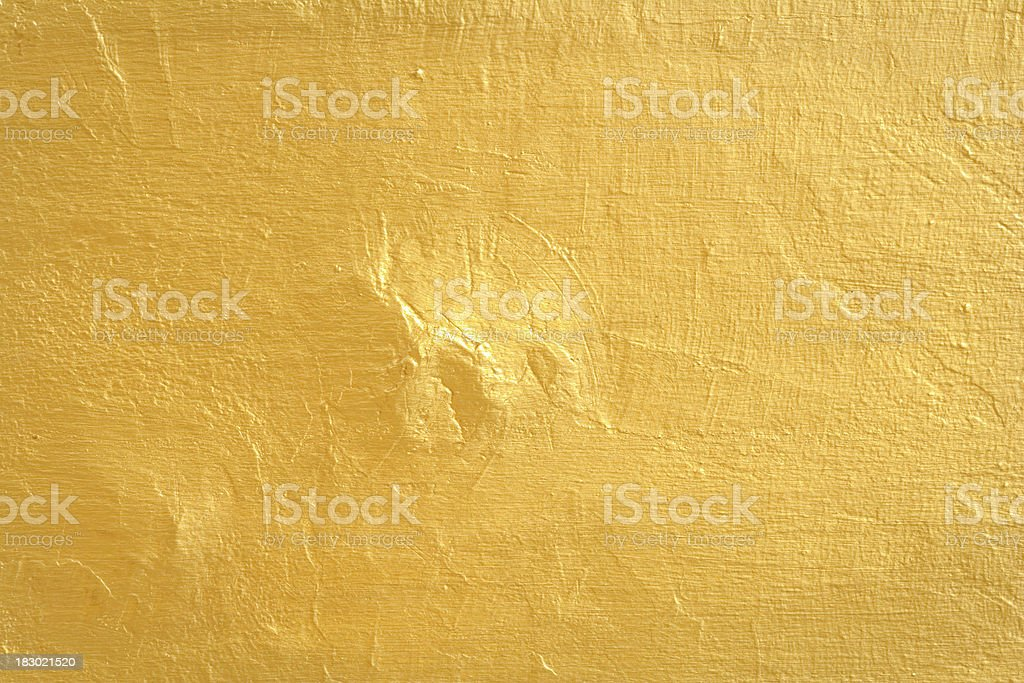 Gold Painted Wall Texture royalty-free stock photo