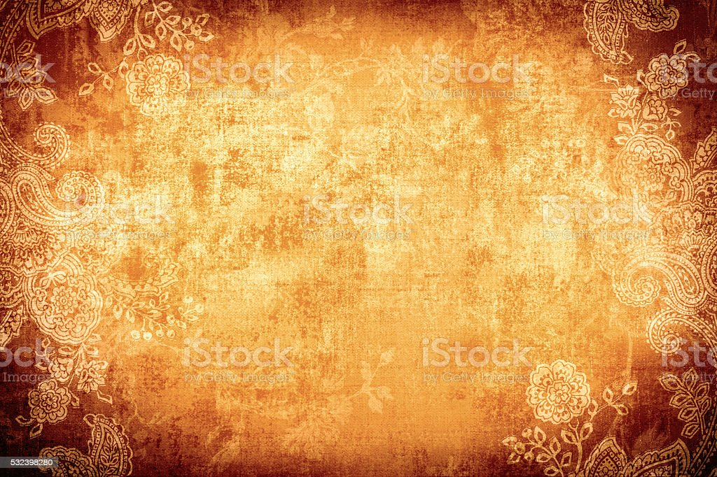 Gold Paisley Background stock photo