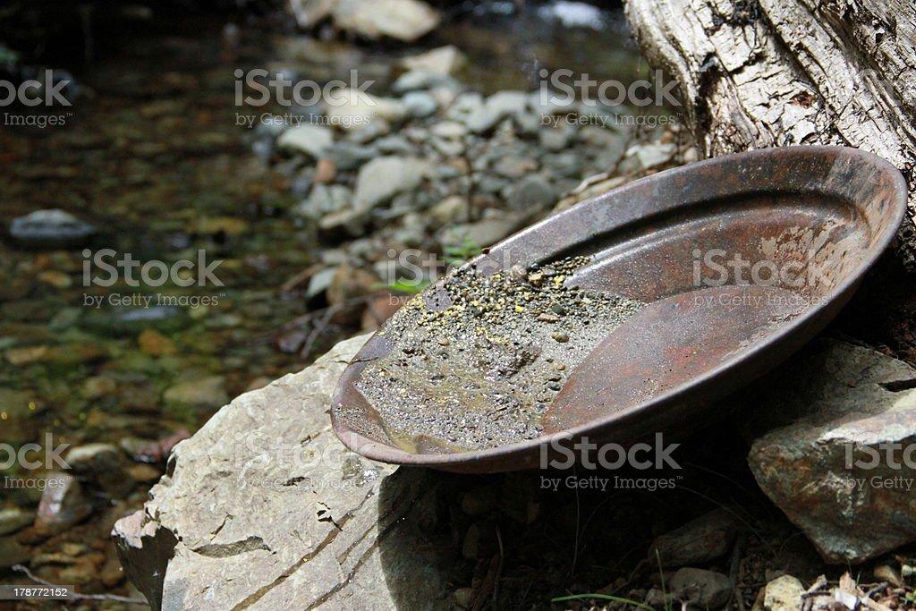 Gold Panning stock photo