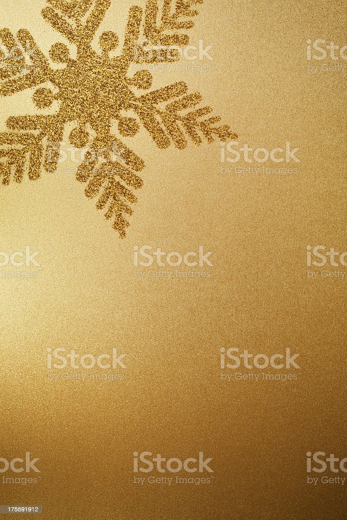 Gold Paper With Snowflake royalty-free stock photo