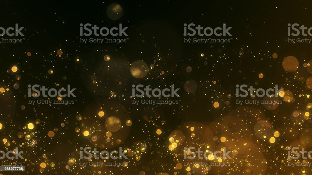 Gold particles - background stock photo