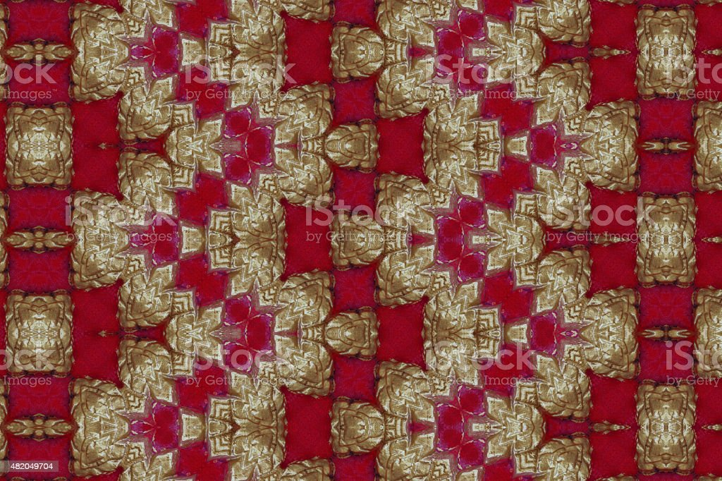 Gold pattern cement wall close stock photo