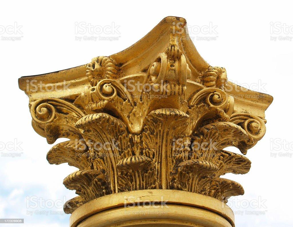 Gold Pedestal stock photo