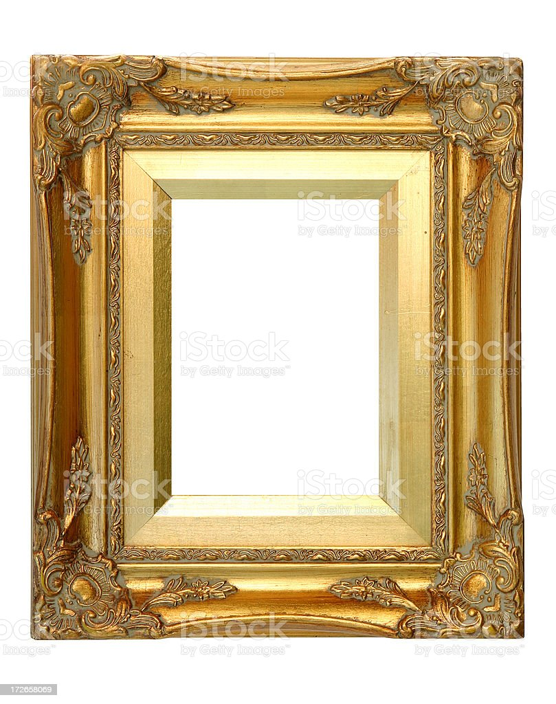 Gold Photo Frame royalty-free stock photo